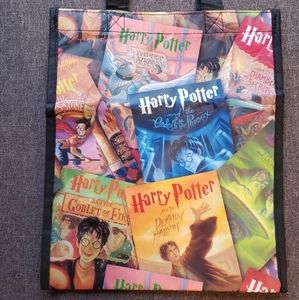 Harry Potter book collage small reusable tote